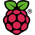 The Raspberry-Pi microcomputer logo